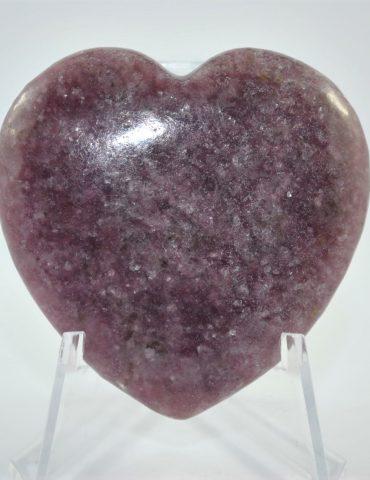 Lepidolite Heart Wishing Well Hobart