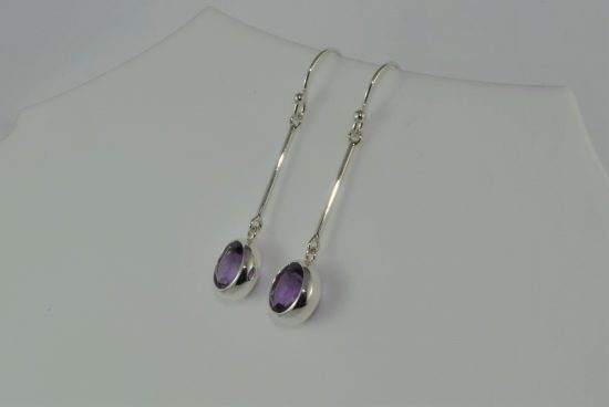 Amethyst Crystal Earrings