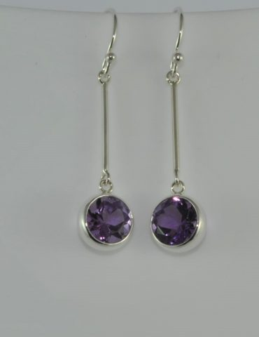 Amethyst Crystal Earrings
