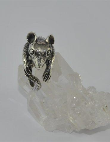 Possum ring sterling silver