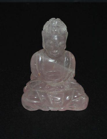 Rose Quartz Crystal Thai Buddha Carving Wishing Well Hobart