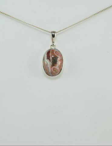 Crazy Lace Agate Crystal Pendant Wishing Well Hobart