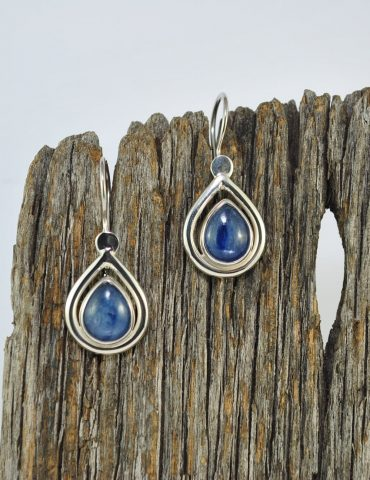 Kyanite Crystal Earrings Wishing Well Hobart