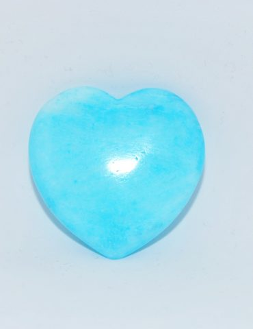 Blue Aragonite Carved Heart