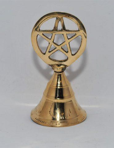 Brass Altar Bell Pentacle Top