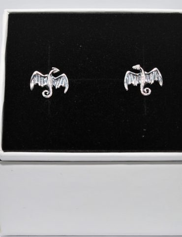 Dragon Earrings Sterling Silver Studs