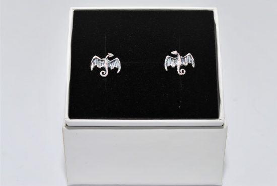 Dragon Earrings Sterling Silver Studs