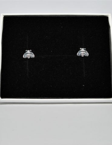 Bee Earrings Sterling Silver Studs