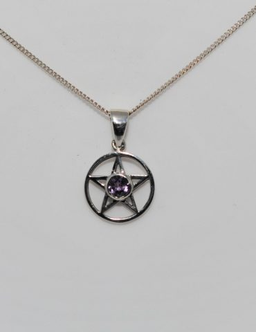 Amethyst Pentagram Pendant