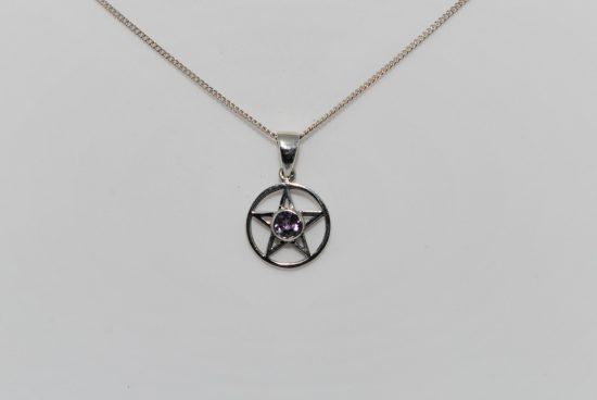 Pentagram Amethyst Pendant