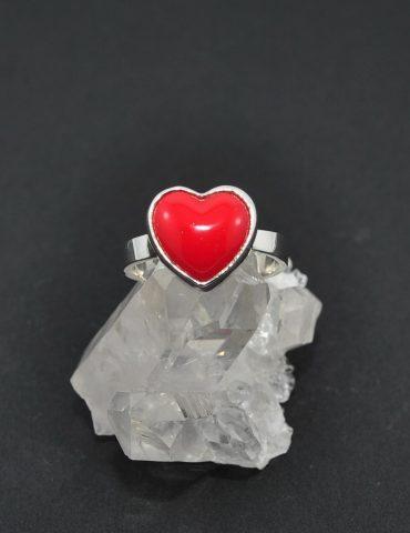 Red Enamel Ring