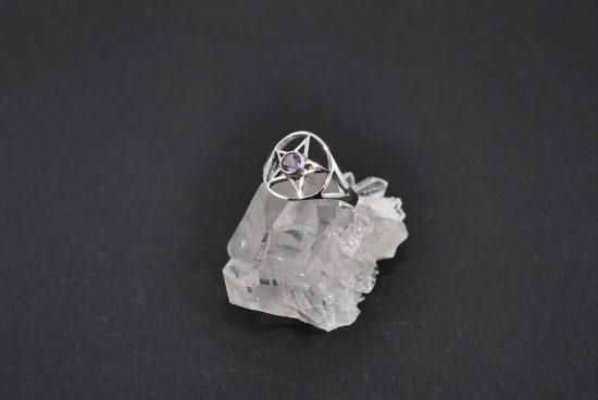 Amethyst Pentagram Ring