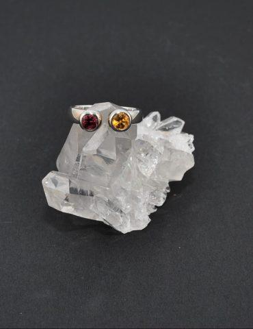 Garnet and Citrine Ring
