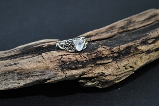 Moonstone Triquetra Ring