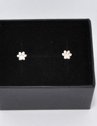 Silver Paw Earrings
