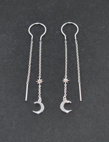 Moon Threader Earrings