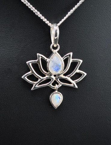 Moonstone Lotus Flower Pendant