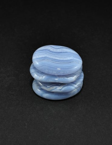 Blue Lace Agate Palm Stone