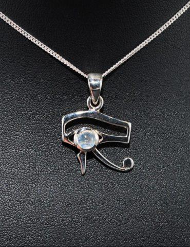 Eye of Horus Moonstone Pendant