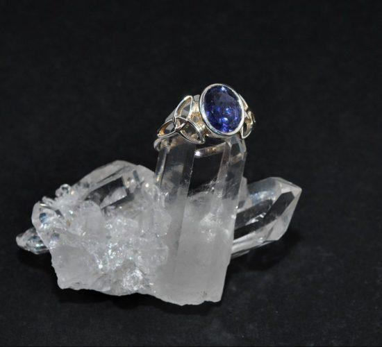 Iolite Triquetra Ring
