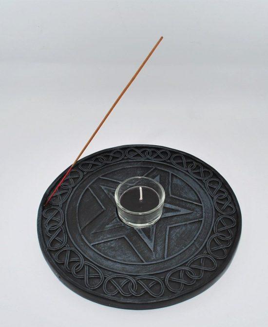 Pentagram Incense Tealight Candle Holder