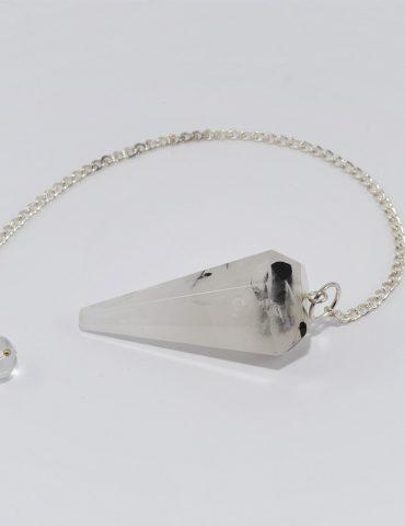 Tourmalinated Quartz Pendulum