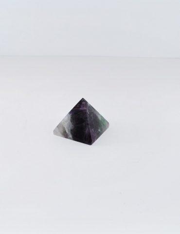 Rainbow Fluorite Pyramid